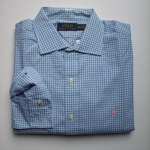 NEW Men's Ralph Lauren Shirt Blue Plaid